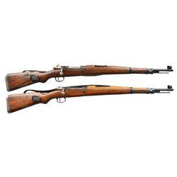 2 YUGOSLAV M48A BOLT ACTION RIFLES.