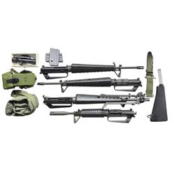 AN ASSORTMENT OF AR15/M16 PARTS & ACCESSORIES.