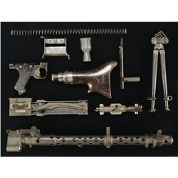 HISTORICALLY FASCINATING ISRAELI MG34 PARTS KIT.