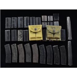 ASSORTMENT OF 35 M1/M2 CARBINE MAGS. &