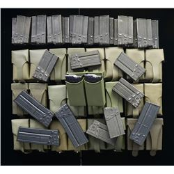ASSORTMENT OF 53 HK91/G3 MAGS. & POUCHES.