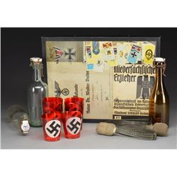 WWII GERMAN SWORD KNOTS, CANDLE LIGHTS,