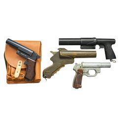 4 COLLECTIBLE FLARE GUNS.