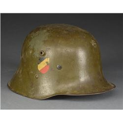 WWII GERMAN REISSUED M1916 AUSTRIAN HELMET.