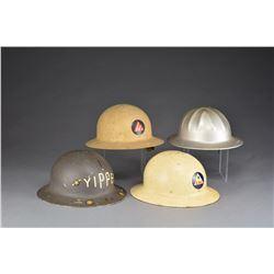 7 HELMETS, 1 LINER & 1 HARD HAT.