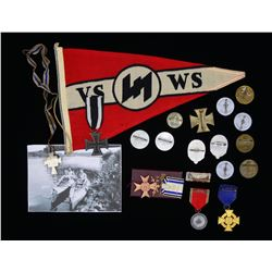 WWI & WWII GERMAN MEDALS, BADGES, TINNIES &