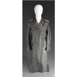 3 WWII TYPE GERMAN OVERCOATS.