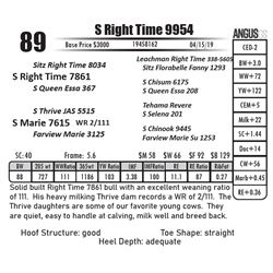S Right Time 9954