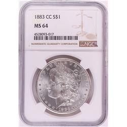 1883-CC $1 Morgan Silver Dollar Coin NGC MS64