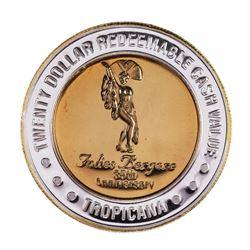.999 Silver Tropicana Las Vegas, Nevada $20 Limited Edition Casino Gaming Token