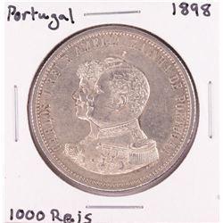 1898 Portugal 1000 Reis Silver Coin