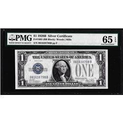 1928B $1 Funnyback Silver Certificate Note Fr.1602 PMG Gem Uncirculated 65EPQ