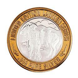 .999 Silver Lawmen Series Pat Garrett $10 Limited Edition Casino Gaming Token