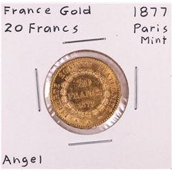 1877 Paris Mint France 20 Francs Gold Coin