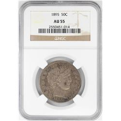 1895 Barber Half Dollar Coin NGC AU55