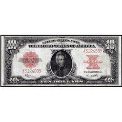 """1923 $10 """"Poker Chip"""" Legal Tender Note"""