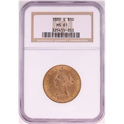 1899-S $10 Liberty Head Eagle Coin NGC MS61