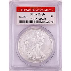 2012-(S) $1 American Silver Eagle Coin PCGS MS70 San Francisco