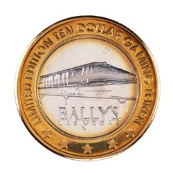 .999 Silver Ballys Las Vegas $10 Casino Limited Edition Gaming Token