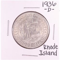 1936-D Rhode Island Commemorative Half Dollar Coin