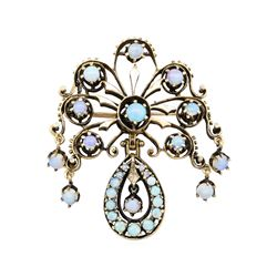 14KT Yellow Gold 4.41 ctw Opal Pendant-Pin