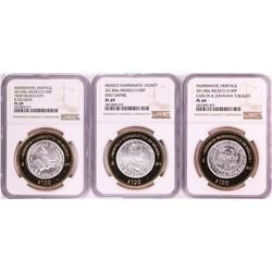 Lot of Mexico 2012/2013Mo 100 Pesos Numismatic Commemorative Silver Coins NGC PL69