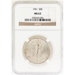 1941 Walking Liberty Half Dollar Coin NGC MS63
