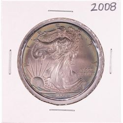 2008 $1 American Silver Eagle Coin Amazing Toning