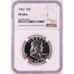 1962 Proof Franklin Half Dollar Coin NGC PF69* STAR