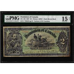 1897 $2 Dominion of Canada Note DC-14b PMG Choice Fine 15 Net