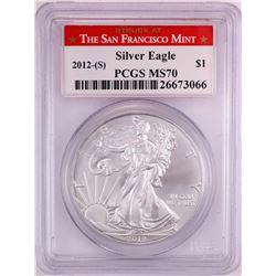 2012-(S) $1 American Silver Eagle Coin PCGS MS70 San Francisco
