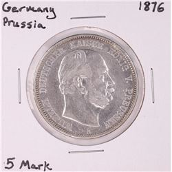 1876 Germany Prussia 5 Mark Silver Coin