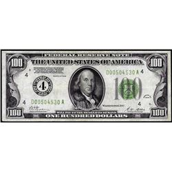 1928 $100 Federal Reserve Note Cleveland