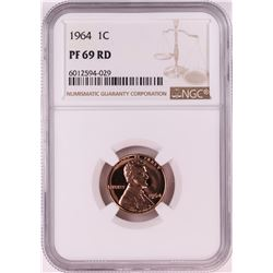 1964 Proof Lincoln Memorial Cent Coin NGC PF69RD