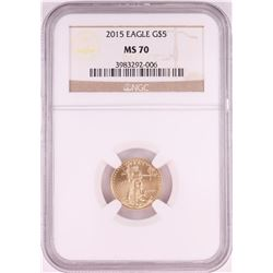 2015 $5 American Gold Eagle Coin NGC MS70