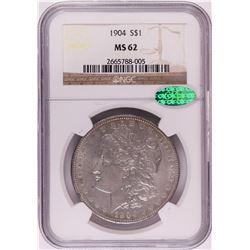 1904 $1 Morgan Silver Dollar Coin NGC MS62 CAC