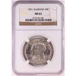 1921 Alabama Centennial Commemorative Half Dollar Coin NGC MS63