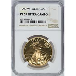 1999-W $50 American Gold Eagle Coin NGC PF69 Ultra Cameo