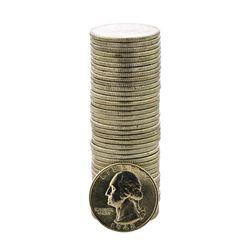 Roll of (40) Brilliant Uncirculated 1948 Washington Quarter Coins