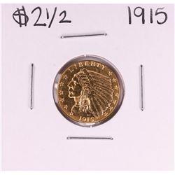 1915 $2 1/2 Indian Head Quarter Eagle Gold Coin