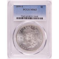 1899-S $1 Morgan Silver Dollar Coin PCGS MS63