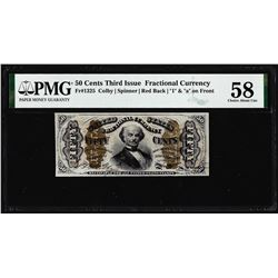 1863 Fifty Cents Third Issue Fractional Note Fr.1325 PMG Choice About Uncirculated 58