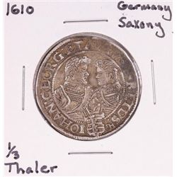 1610 Germany Saxony 1/3 Thaler Silver Coin