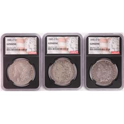 Lot of 1888-O to 1890-O $1 Morgan Silver Dollar Coins NGC Genuine