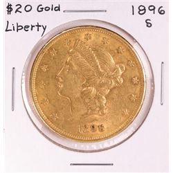 1896-S $20 Liberty Head Double Eagle Gold Coin