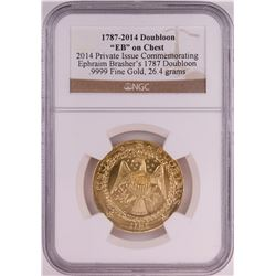 1787-2014 Gold Brasher Doubloon Private Issue Gold Coin NGC Graded