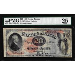 1869 $20 Legal Tender Note Fr.127 PMG Very Fine 25