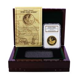 2012 George T. Morgan $100 Gold Union Coin NGC Ultra Cameo Gem Proof W/Box & COA