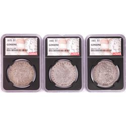Lot of 1879-1881 $1 Morgan Silver Dollar Coins NGC Genuine