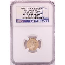 2011-W $5 Proof American Gold Eagle Coin NGC PF69 Ultra Cameo Early Releases